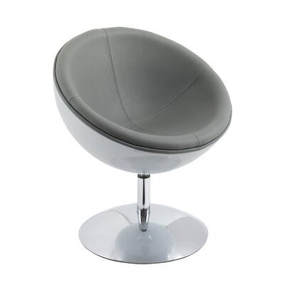 Mod Swivel Papasan Chair Upholstery: Gray