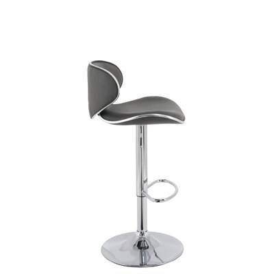 Criddle Curved Form Fitting Adjustable Height Swivel Bar Stool