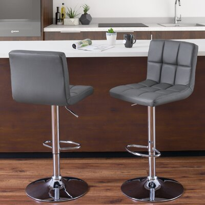 Elser Adjustable Height Swivel Bar Stool