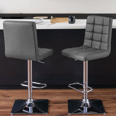 Crewe Adjustable Height Swivel Bar Stool