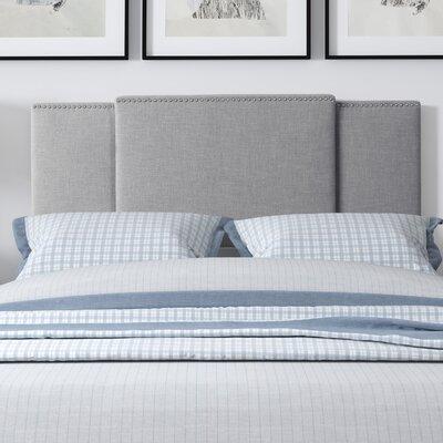 Carlsen Upholstered Panel Headboard Upholstery: Gray