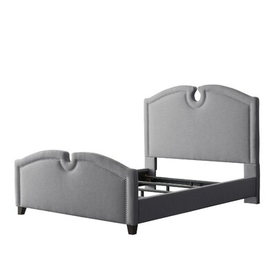 Debord Curved Top Upholstered Panel Bed Size: Full, Color: Gray