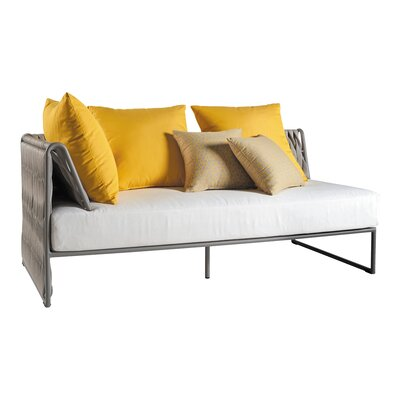 Kalife Left Arm 2 Seater Loveseat with Cushions Fabric: White