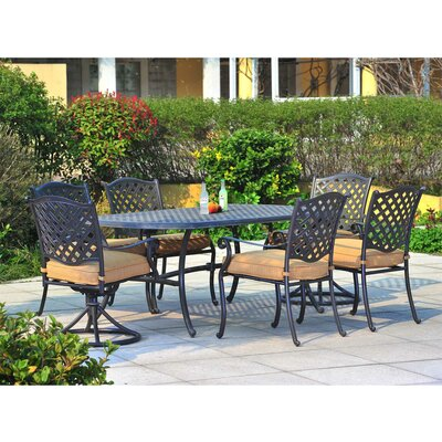 Largemont 7 Piece Dining Set with Cushions
