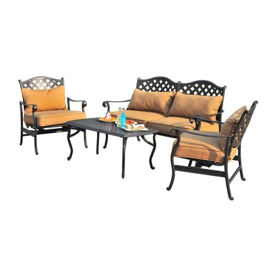 Largemont 4 Piece Seating Group with Cushions