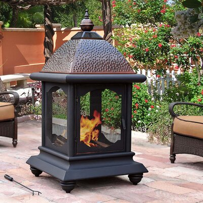 Sunjoy Connan Steel Wood Burning Outdoor Fireplace Thundergroupuk Co