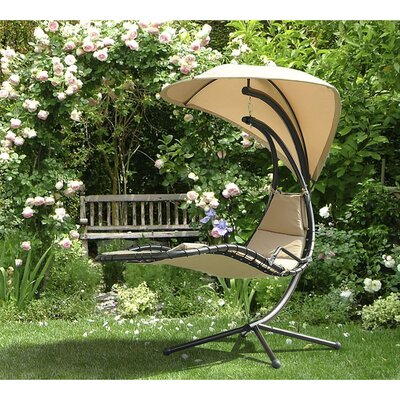 Corona Polyester Hanging Chaise Lounger with Stand