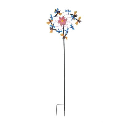Dragonfly Kinetic Iron Wind Catcher Garden Stake