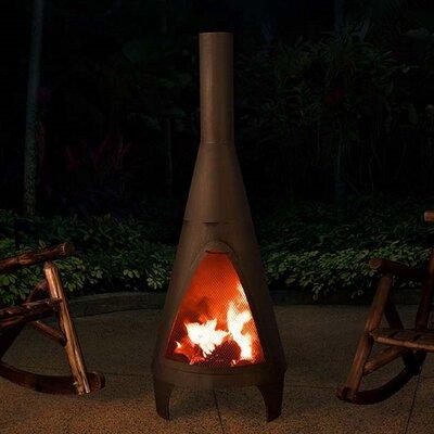 Sunjoy 110503002 Lawrence Steel Charcoal Chiminea