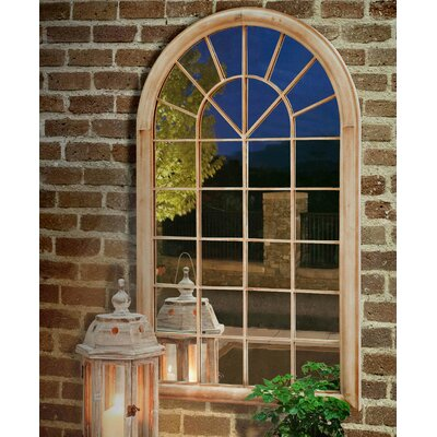 Round Top Windowpane Garden Mirror
