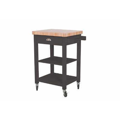 Weston Kitchen Cart Base Finish: Charcoal