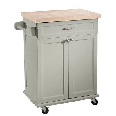 Philomene Kitchen Cart Base Finish: Gray