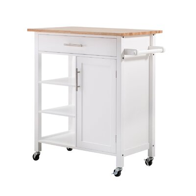 Rosemont Kitchen Cart Color: White