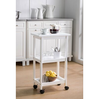 Heathcoat Kitchen Cart Color: White