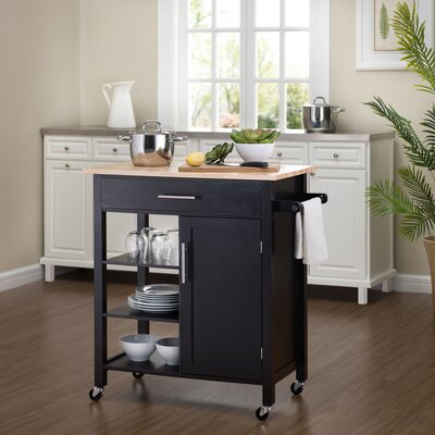 Rosemont Kitchen Cart Color: Espresso