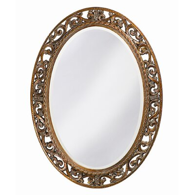 Oval Antique Bronze Wall Mirror Finish: Antique Bronze