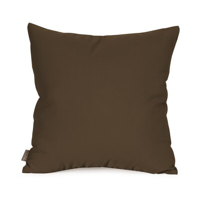 Starboard Indoor/Outdoor Throw Pillow Size: 16 x 16, Color: Chocolate