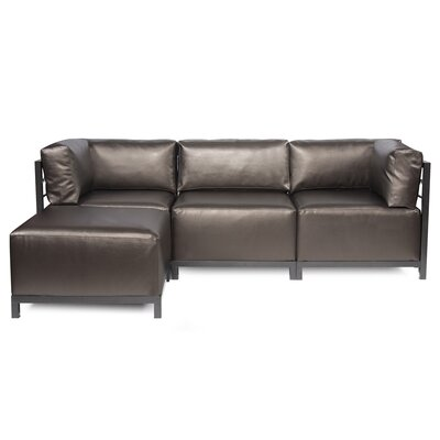 Woodsen Sectional with Cushions Finish: Titanium, Color: Pewter