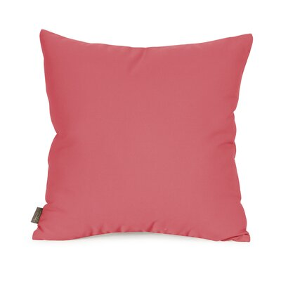 Starboard Indoor/Outdoor Throw Pillow Size: 16 x 16, Color: Punch