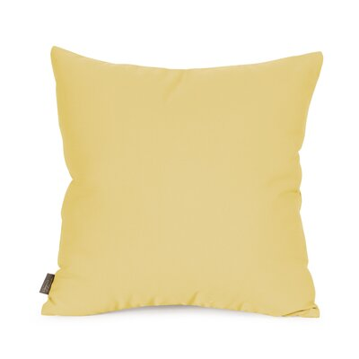 Starboard Indoor/Outdoor Throw Pillow Size: 16 x 16, Color: Sunflower