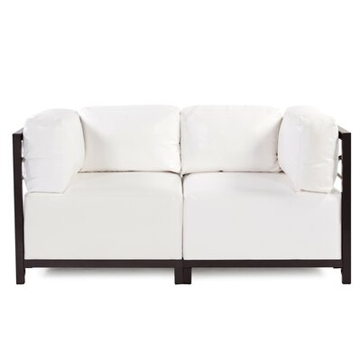Woodsen Symmetrical Sectional Frame Finish: Titanium, Upholstery: White
