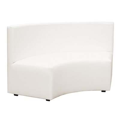 Shad Radius In Curve Sofa Fabric: Atlantis White