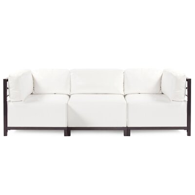 Woodsen Atlantis Sectional Frame Finish: Titanium, Upholstery: White