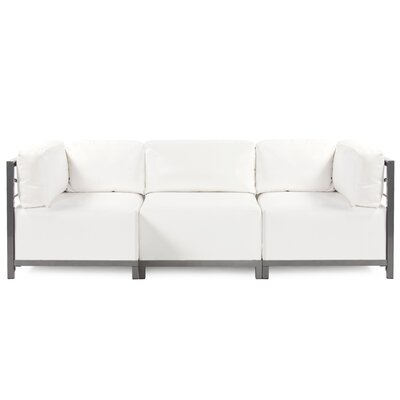 Woodsen Atlantis Sectional Upholstery: White, Frame Finish: Titanium