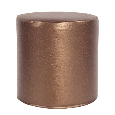Boyle No-Tip Cylinder Ottoman Upholstery: Copper