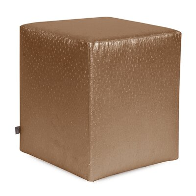 Boyle Universal Cube Ottoman Upholstery: Copper