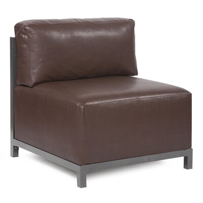 Woodsen Avanti slipper Chair Finish: Titanium, Upholstery: Pecan