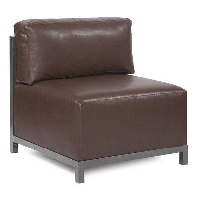 Woodsen Avanti slipper Chair Color: Pecan, Finish: Titanium