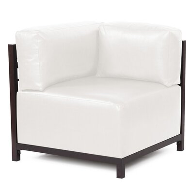 Woodsen Avanti Arm Chair Finish: Titanium, Upholstery: White