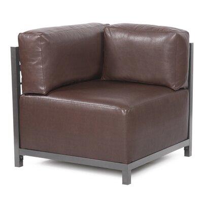 Woodsen Avanti Corner Chair Color: Pecan, Finish: Titanium