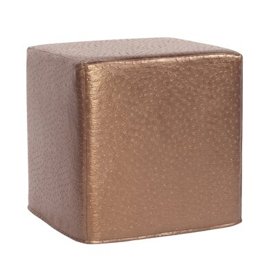 Boyle No-Tip Block Ottoman Upholstery: Copper