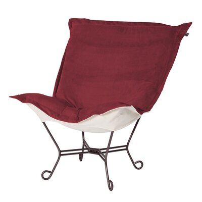 Mattingly Scroll Puff Lounge Chair Color: Mahogany
