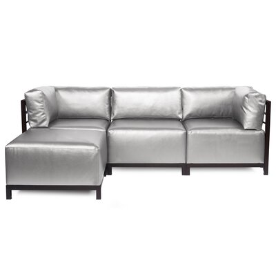 Woodsen Sectional with Cushions Finish: Mahogany, Color: Mercury