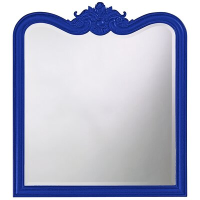 Rectangle Resin Vertical Mirror Finish: Royal Blue
