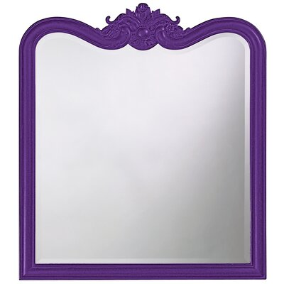 Rectangle Resin Vertical Mirror Finish: Royal Purple