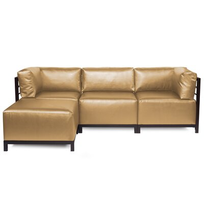 Woodsen Sectional with Cushions Finish: Mahogany, Color: Bronze