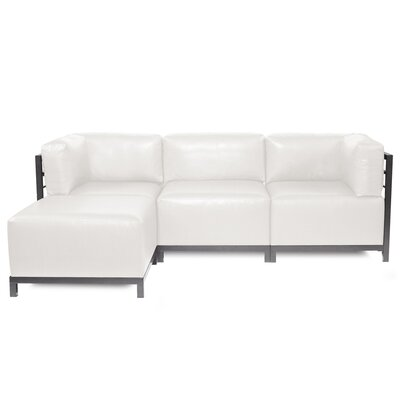 Woodsen Sectional with Cushions Finish: Titanium, Color: White