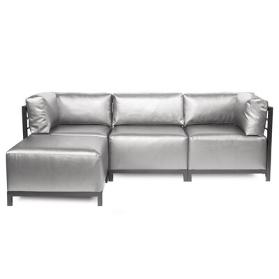 Woodsen Sectional with Cushions Finish: Titanium, Color: Mercury