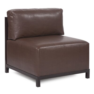 Woodsen Avanti slipper Chair Finish: Mahogany, Upholstery: Pecan