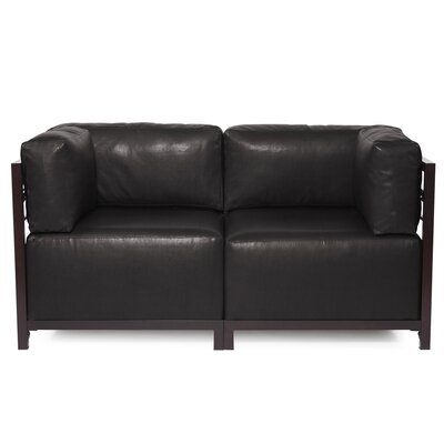 Woodsen Avanti Sectional Frame Finish: Mahogany, Upholstery: Black