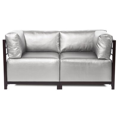Woodsen Shimmer Sectional Upholstery: Mercury, Frame Finish: Mahogany