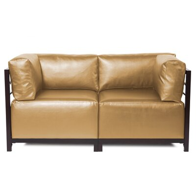 Woodsen Shimmer Sectional Upholstery: Gold, Frame Finish: Titanium