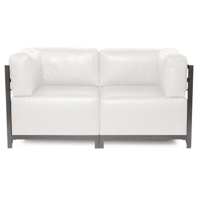 Woodsen Avanti Sectional Frame Finish: Titanium, Upholstery: White