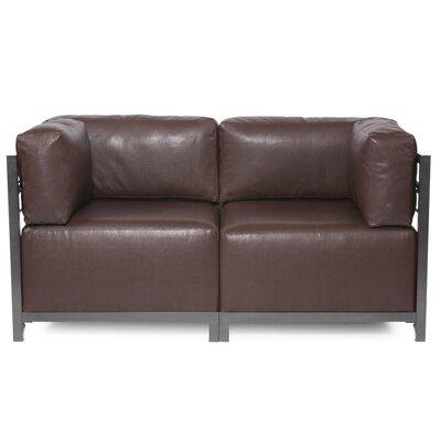 Woodsen Avanti Sectional Upholstery: Pecan, Frame Finish: Titanium