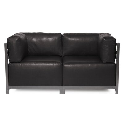 Woodsen Avanti Sectional Upholstery: Black, Frame Finish: Titanium