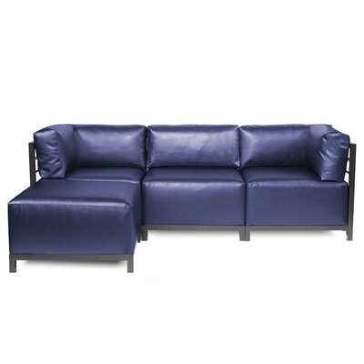 Woodsen Sectional with Cushions Finish: Titanium, Color: Sapphire